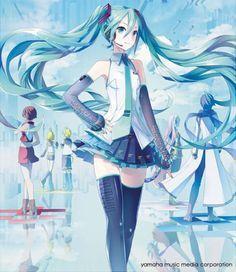 Vocaloid, Hatsune Miku, Kagamine Rin/Len, Meiko, Kaito, Megurine Luka.