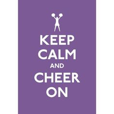 Keep Calm and Cheer On Spoof Poster 13x19 $16