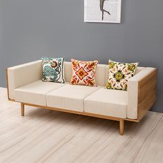 The size of the apartment living room furniture sofa fabric sofa modern minimalist Scandinavian trio of solid wood sofa – furniture Apartment Furniture, Living Furniture, Living Room Sofa, Sofa Furniture, Cheap Furniture, Furniture Design, Apartment Living, Modern Furniture, Rustic Furniture