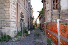 Street dirt and ruins