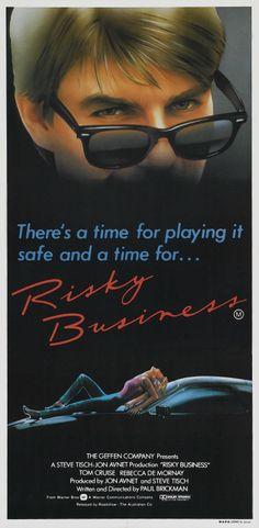 """Risky Business"" (1983). COUNTRY: United States. DIRECTOR: Paul Brickman. CAST: Tom Cruise, Rebecca de Mornay, Joe Pantoliano, Richard Masur, Bronson Pinchot, Nicholas Pryor, Janet Carroll, Curtis Armstrong"