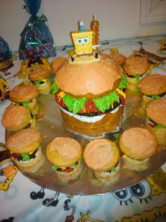 I really dislike spongebob but this might be cute wo him for my hubby's birthday since he is crazy about burgers