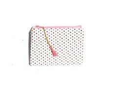 trousse de maquillage pour le sac a main pois multicolores