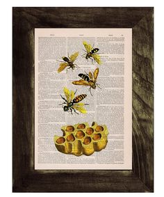 Hey, I found this really awesome Etsy listing at https://www.etsy.com/ie/listing/165147008/bees-print-on-dictionary-book-page-bees
