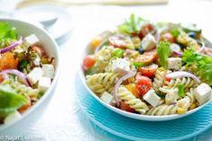 Fusilli salade | Kookmutsjes Fusilli, Spatzle, Macaroni, Foodies, Salads, Spaghetti, Food And Drink, Lunch, Fruit