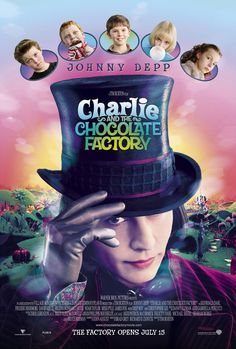 Charlie and the Chocolate Factory, 2005 (6+) directed by Tim Burton. The film stars Johnny Depp and Freddie Highmore. You will find too many ridiculous, just so mysterious and exciting in this journey, it will be just as nice and sweet for you as delicious sweet sticks with pink fudge from Willy Wonka.