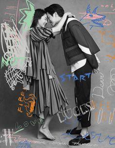 Scribble of Love Pre Wedding Poses, Pre Wedding Photoshoot, Wedding Shoot, Couple Photoshoot Poses, Couple Shoot, Wedding Photography Packages, Couple Photography, Ah O Amor, Photo Illustration