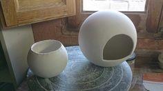 Moldes porcelana,preparandolos para la cocción.