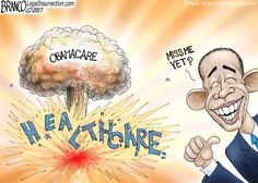 Now that we know just how destructive Obama has been to our healthcare system and economy, do we miss him yet? Cartoon by A.F. Branco ©2017.