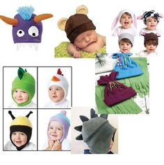 Easy to sew fleece animal hat patterns for baby and children