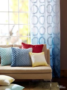Ombre isn't just for your hair! Make awesome home decor with DIY ombre dying. Transform your curtains and pillows into unique decor items with a subtle ombre effect in any color of your choice.