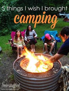 5 things that are easy to forget while camping. Make sure they're on your packing list! #overstuffedlife