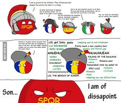 Romania son of Roma Military Humor, History Memes, Political Science, Fun Comics, Proud Of Me, Science And Nature, Hetalia, Romania, Best Funny Pictures