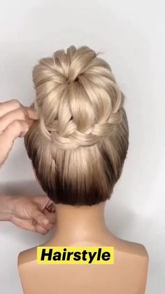 Bun Hairstyles For Long Hair, Braids For Short Hair, Summer Hairstyles, Protective Hairstyles, Box Braids, Black Women Hairstyles, Wedding Hairstyles, Updo Hairstyles Tutorials, Party Hairstyle
