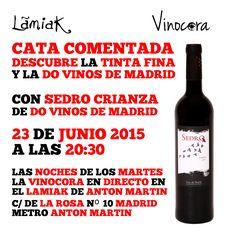 ¿Sabías que en Madrid están posiblemente las referencias más antiguas al vino de Europa, de hace unos 2200 años? #vino #madrid.   Descubre esto y mucho más con Sedro DO Vinos de Madrid, el martes, a las 20:30 - en Taberna Lamiak  GRATIS Una copa de vino durante la cata Las siguientes a 1€ hasta las 23:00 ese mismo día, para repasar y fijar conocimientos.    LAS NOCHES DE LOS  MARTES LA VINOCORA  EN DIRECTO EN EL LAMIAK  DE LA ROSA Nº 10  MADRID METRO ANTON MARTIN Lamiak Antón Martín c/ de La…