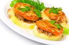 Calabacines rellenos de carne picada y tomate - Recetín