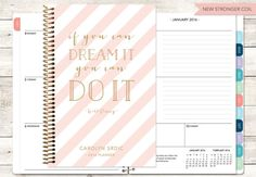 12 MONTH PLANNER - CHOOSE YOUR START MONTH ***Please keep in mind processing and shipping times when choosing your start month + NEW - Add a clip-in