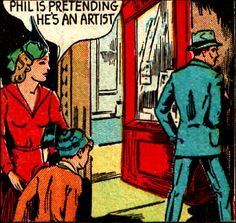 Aren't we all. —Target Comics #5 (1940) (addendum: we are what we pretend to be (crossing fingers))