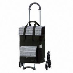 Poussette de marché - 6 roues - Monte-escalier Scala Milla - Noir