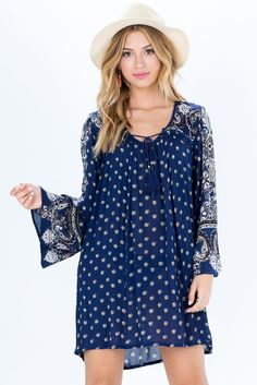 Shanti Paisley Peasant Dress