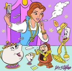 Belle Tokin Up - disney is dope