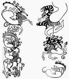 Pazyryk Tattoo Chieftan - 2,500 year old Scythian tattoos