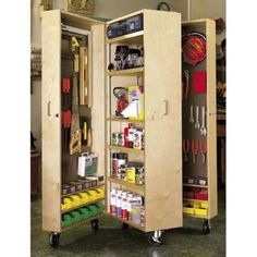Movable Wall Storage For Garage And Studio Mobile Tool Cabinet Woodworking Plan Shop Project Plankreg Plans Organizer