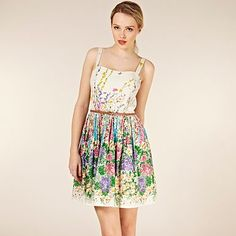 Climbing Floral Belted Sundress - Day dresses - Dresses - Women -