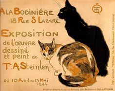 [] Cat drawings and graphic designs by Théophile Alexandre Steinlen (slideshow)