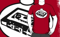 RETRO TAPE CASSETTE T-Shirt by Bubble-Tees.com