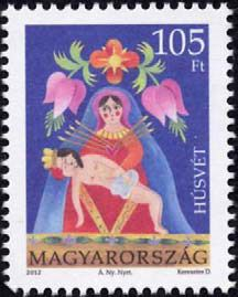 Hungary Post's Easter 2012 stamp issue