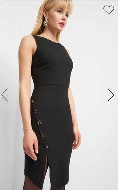 Erhältlich im online shop von orsay.com mit 4% Cashback auf jeden Einkauf als KGS Partner Mode Blog, Bodycon, Little Dresses, Partner, Peplum Dress, High Neck Dress, Spring Summer, Stuff To Buy, Black