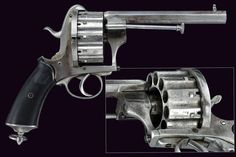 A rare 12 shot pin-fire revolver       provenance:	 	France  dating:	 	 third quarter of the 19th Century