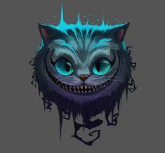 Commission: Cheshire Cat, Scarvii . Cheshire Cat Wallpaper, Cheshire Cat Drawing, Cheshire Cat Tattoo, Alice And Wonderland Tattoos, Cheshire Cat Alice In Wonderland, Disney Kunst, Disney Art, Cartoon Kunst, Cartoon Art