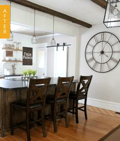 """When Christina, of the blog Christina's Adventures, wrote in to us about her kitchen remodel in a 1902 Victorian home, she called the before kitchen a """"pit of despair."""" While it might not be quite that desperate, we do agree it was in need of a serious makeover"""
