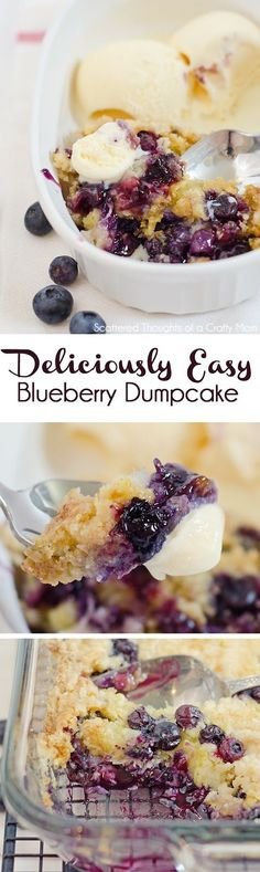 The most delicious Blueberry Dump Cake recipe ever!The most delicious Blueberry Dump Cake recipe ever! Dump Cake Recipes, Dessert Recipes, Frosting Recipes, Quick Dessert, Dinner Dessert, Fancy Cake, Blueberry Dump Cakes, Blueberry Recipes Easy, Lemon Blueberry Dump Cake Recipe