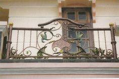 stair rail design | Exterior, Wrought Iron Balcony Railings Designs With Ornament Steel ...