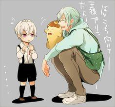 Idolish7 daycare Tamaki and little Sogo