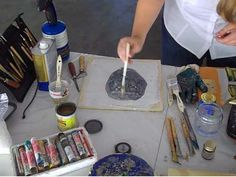 How to Do Transfer Technique on Encaustic: 7 Steps Painting Lessons, Art Lessons, Stencil Printing, Wax Art, Encaustic Painting, Texture Art, Painting Techniques, Art Tutorials, Painting Inspiration