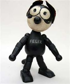 Felix The Cat Wooden Jointed Toy