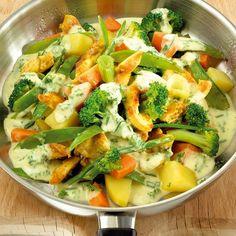 Geflügelpfanne mit Gemüse   Weight Watchers