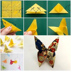DIY Beautiful Origami Butterfly  https://www.facebook.com/icreativeideas