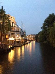A view of Amsterdam's canal