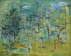 Kazuo Nakamura - Forest, 1953 Oil on masonite Gift of Charles E. Canadian Painters, Canadian Artists, Postmodern Art, House Painter, Canadian History, Abstract Painters, Artist At Work, Installation Art, Abstract Expressionism