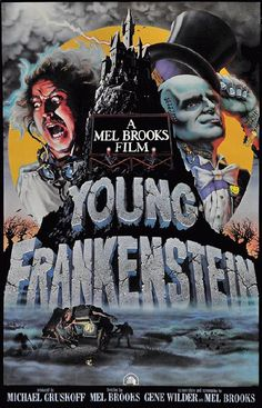Movie poster for Young Frankenstein starring Gene Wilder, Madeline Kahn and…
