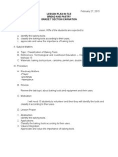 Lesson Plan in Tle Grade 1 Lesson Plan, Teacher Lesson Plans, Free Lesson Plans, Lesson Plan Templates, Lesson Plan Examples, Powerpoint Format, Sewing Scissors, Document Sharing