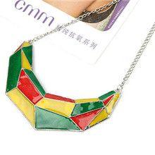 Fashion Elegant Mix Colors Alloy Resin Bib Necklaces Wholesale - US$2.20 - Products - shop at Costwe.com