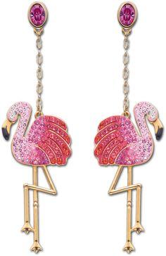 (vu) Swarovski Flamingo earrings