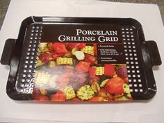 Black porcelain coated perforated steel Grill Grid from Charcoal Companion make grilling and removing food from the grill safe and easy.  http://www.OutdoorRoomsStore.net/product/ST-5819/Porcelain-Griddle/