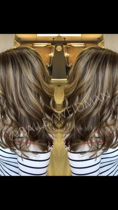 Blonde highlights for brunettes - ash blonde highlights -brunette highlights - hair color - summer color